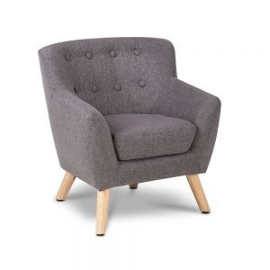 Kids Grey Fabric Armchair