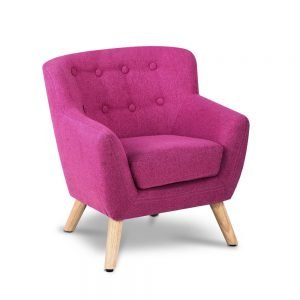 Kids Pink Fabric Armchair