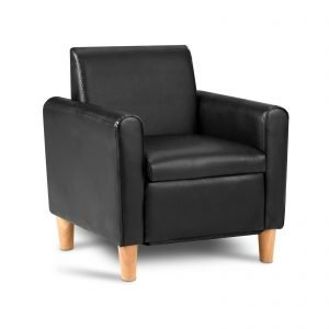 Kids Black Single Chair