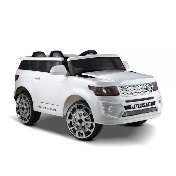 Kids White Range Rover Ride On Car