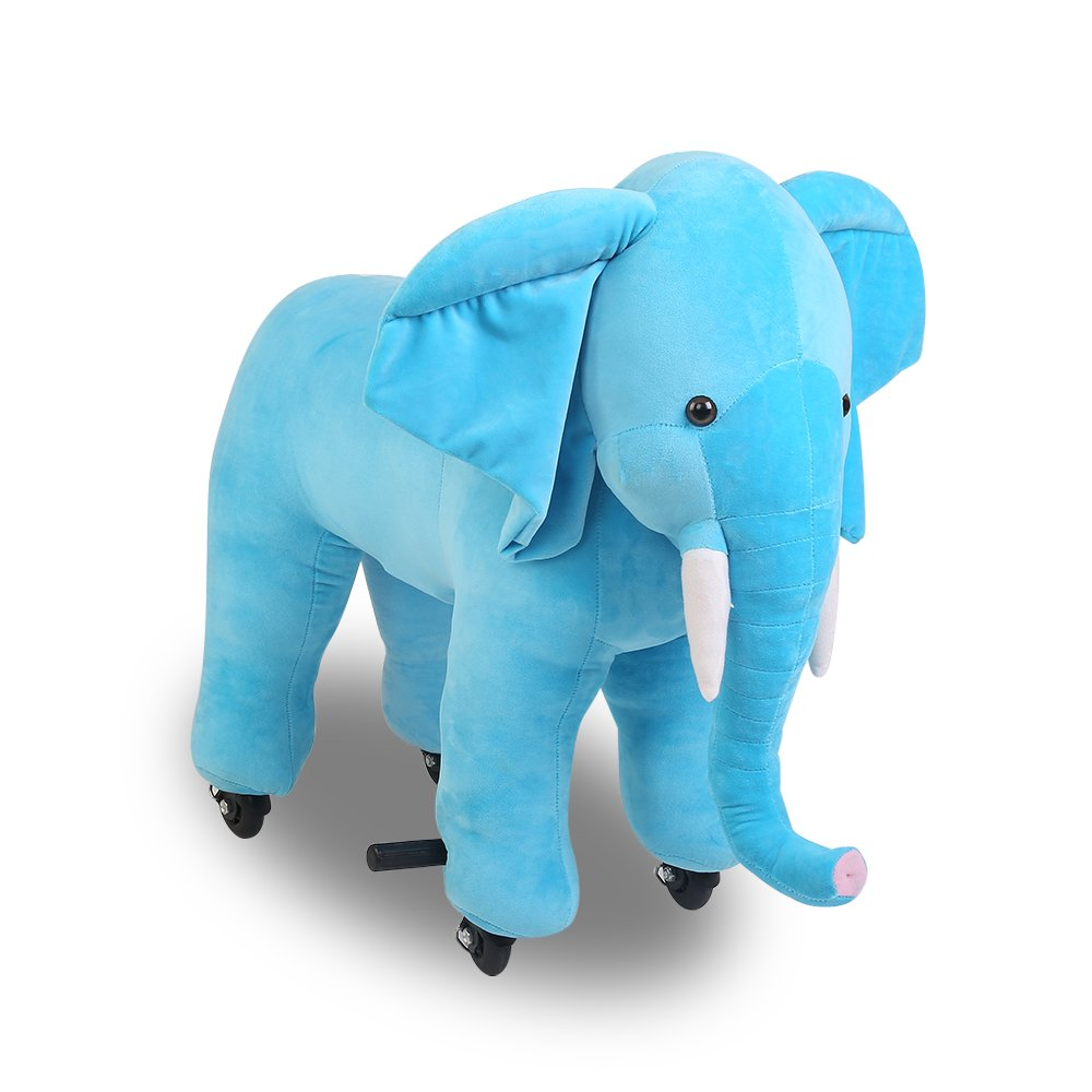 Kids Ride On Elephant Stride And Ride Toddler Soft Toy