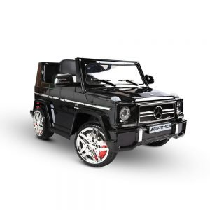 Black Mercedes G65 AMG kids ride on car