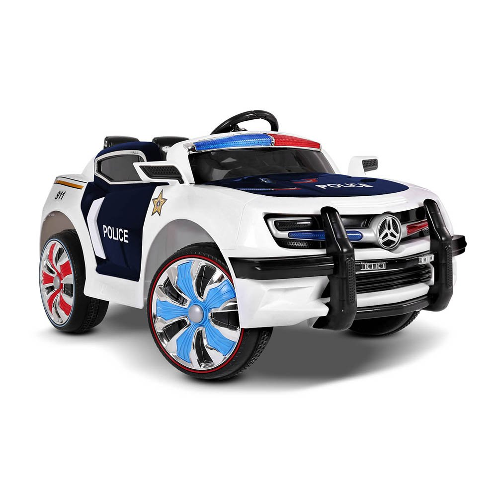 Kids Police Ride On Car Electric Ride Patrol Car Battery