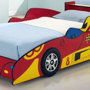 Red Kids Racing Car Bed