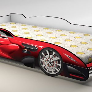 Racing Car Red Kids Bed