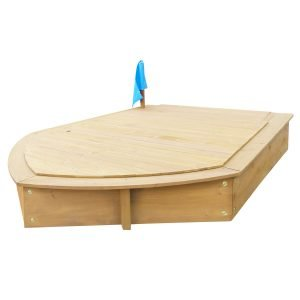 Boat Sandpit with Wooden Cover