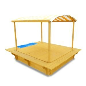 Playfort Sandpit with Wooden Cover