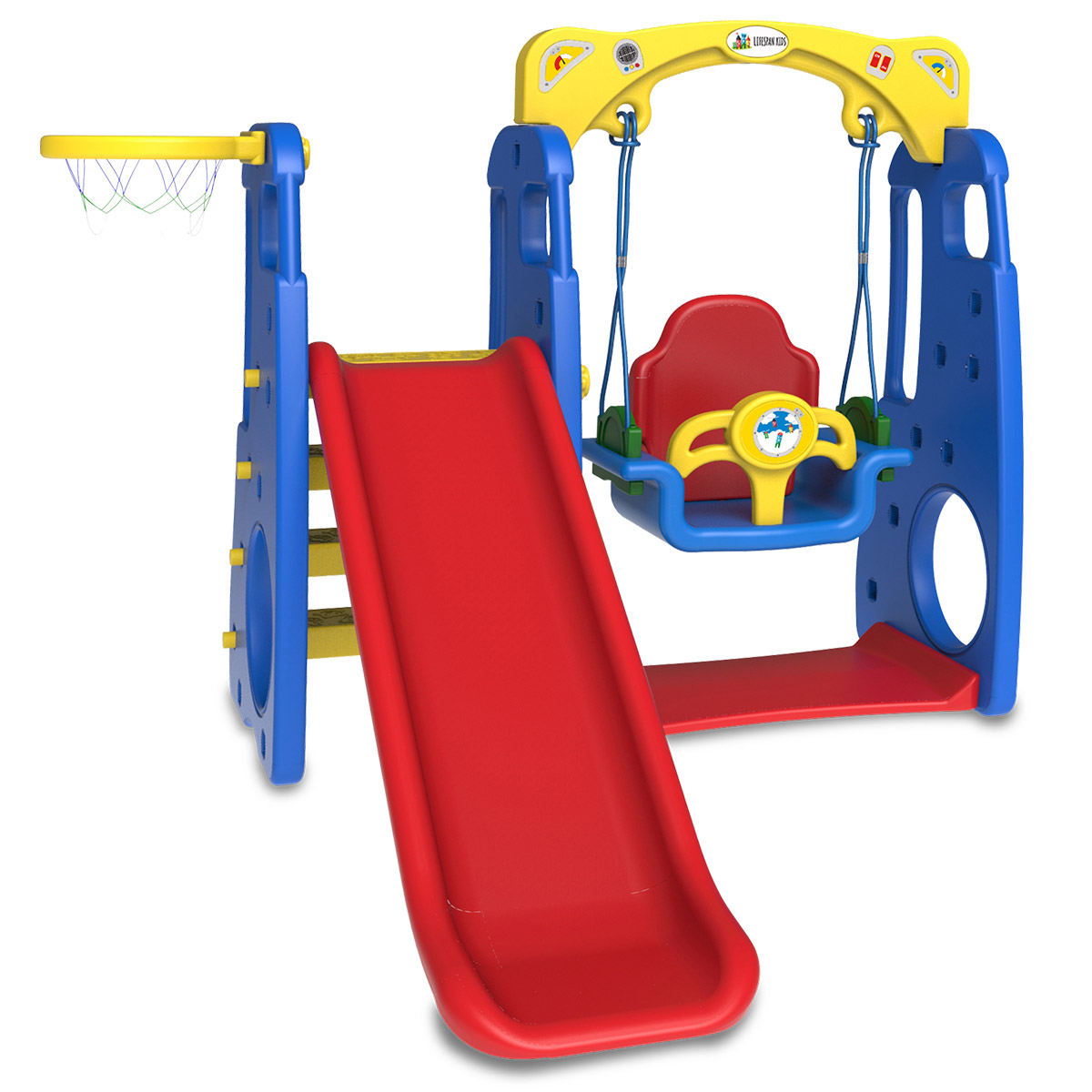 ruby 4 in 1 swing slide outdoor play fun for children. Black Bedroom Furniture Sets. Home Design Ideas