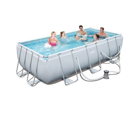 Rectangular frame above ground swimming pool toddler heaven for Rectangular above ground swimming pools for sale