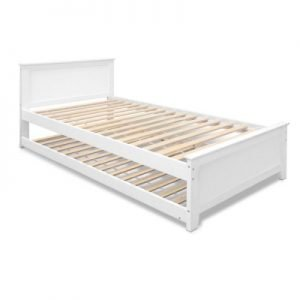 King Single Size Wooden Bed Frame with trundle