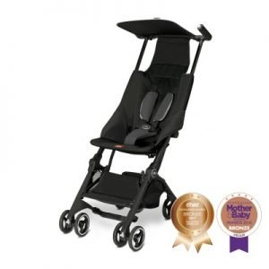 Pockit Stroller - Satin Black
